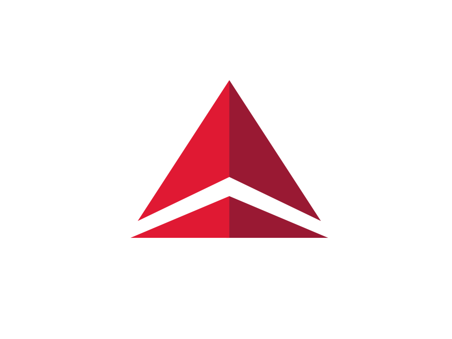 delta airlines logo logok rh logok org logo red triangle with kangaroo red triangle logo car