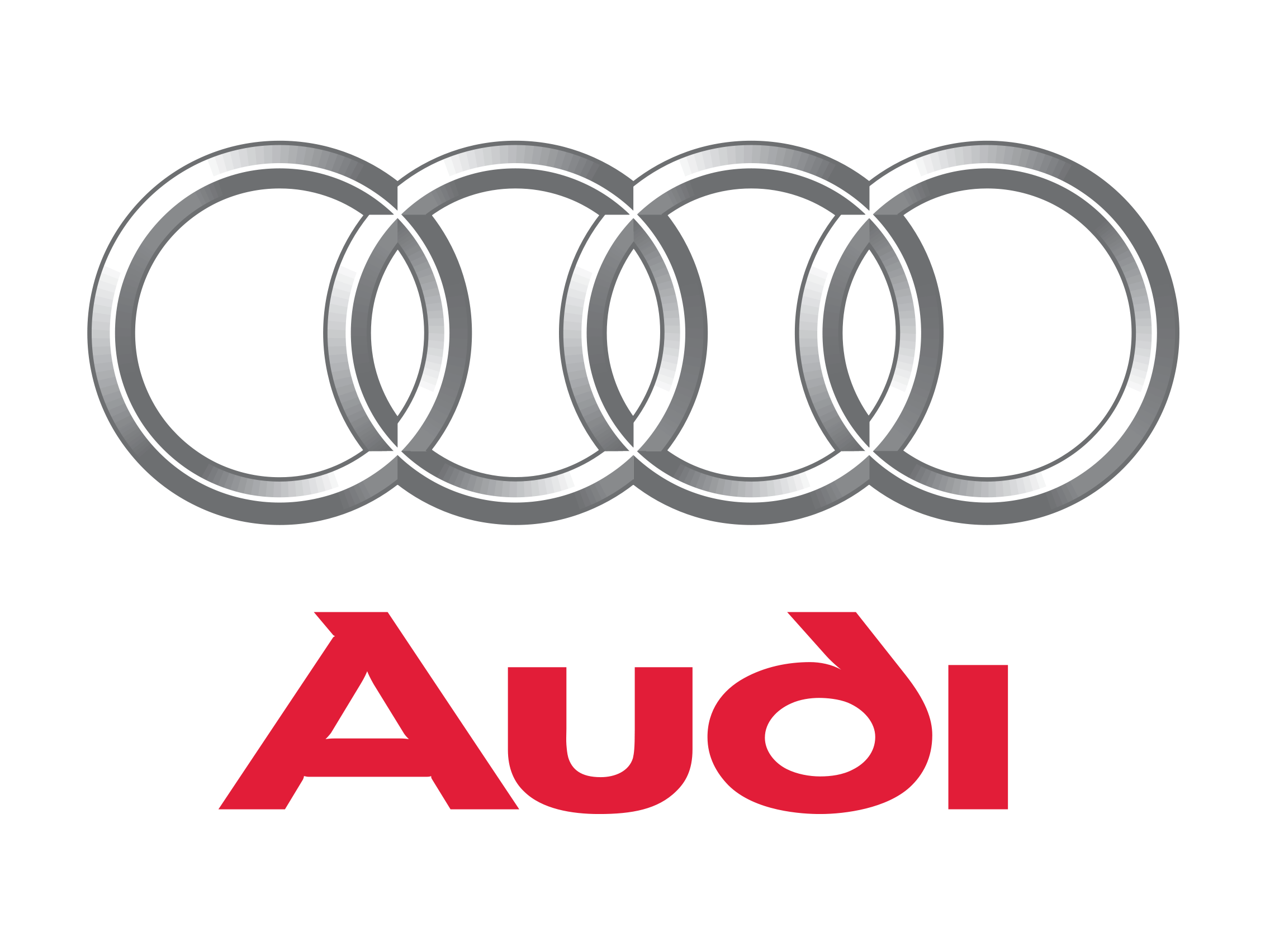 Audi Logo Old on white mercedes benz symbol