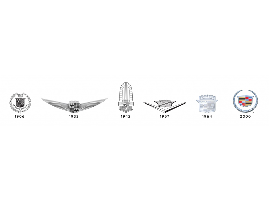 Cadillac logo evolution