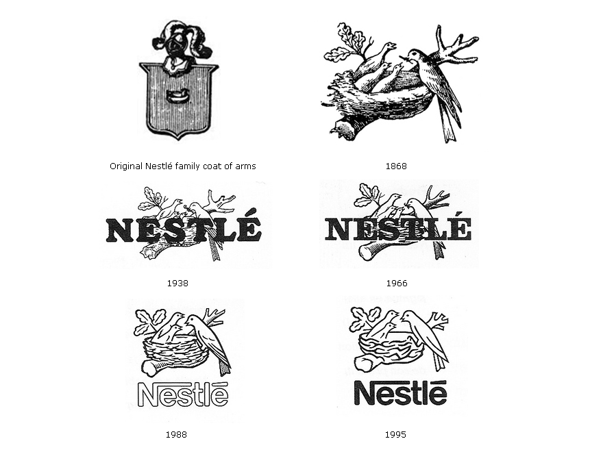 Nestle logo evolution