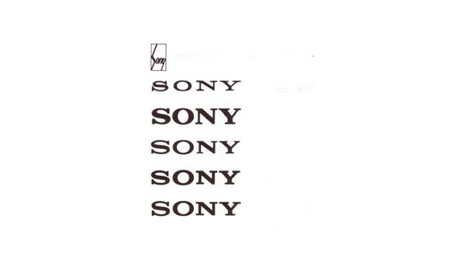 Sony logo evolution
