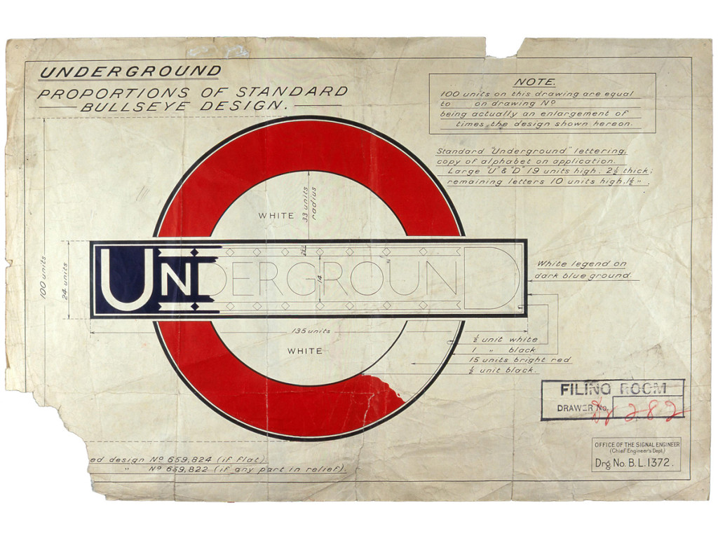 Original draw of London UnderGround