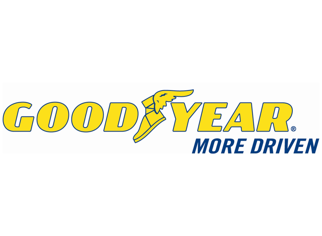 Goodyear logo and slogan More Driven