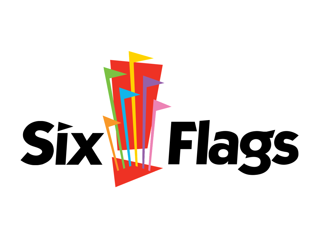 Six Flags logo wordmark