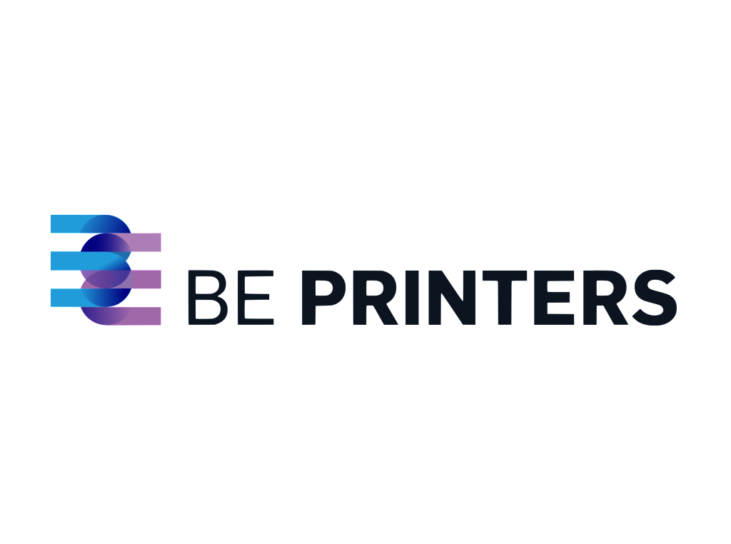 Be Printers logo wordmark