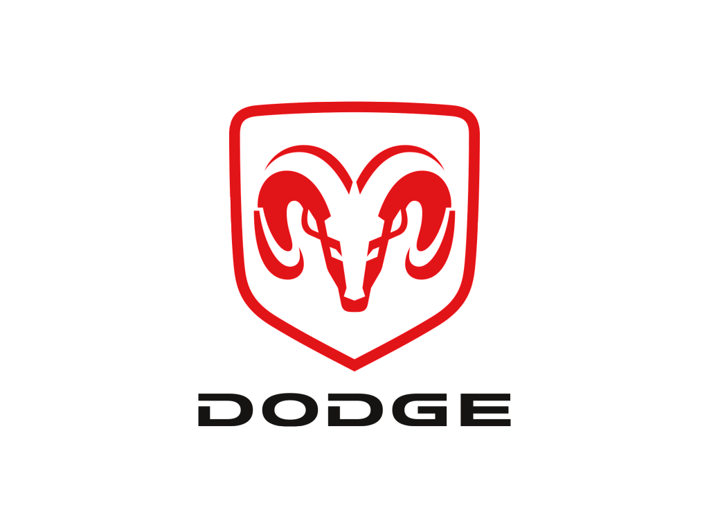 Dodge logo RAM red
