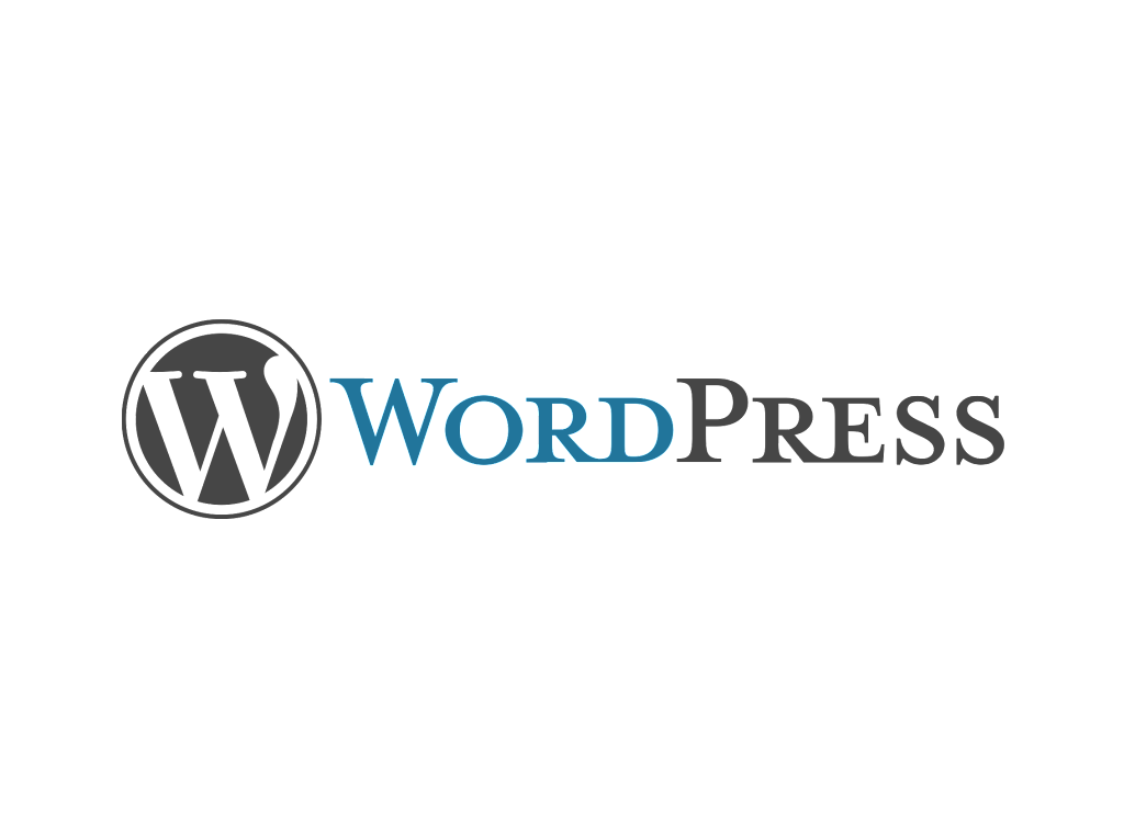 WordPress logo wordmark