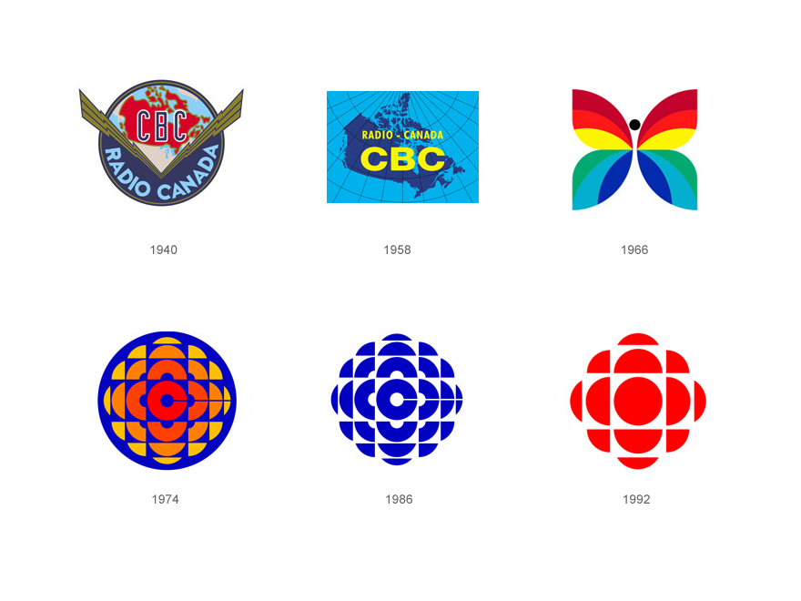 CBC logo Evolution