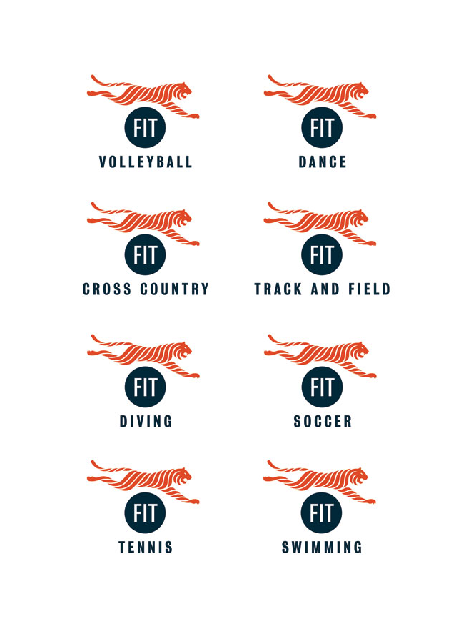FIT Athletics logos