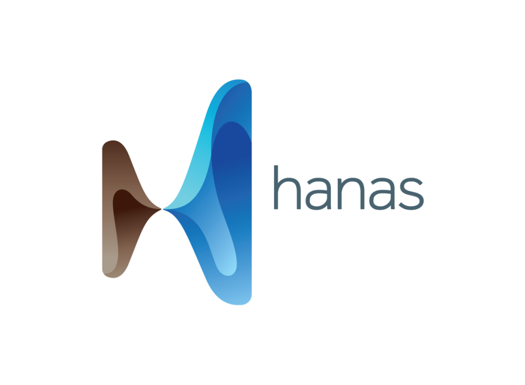 Hanas logo wordmark
