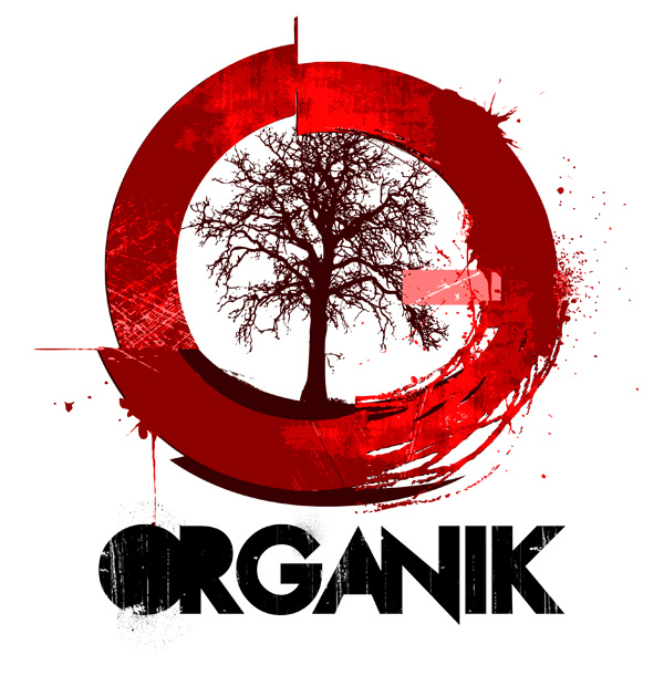 Organik logo red