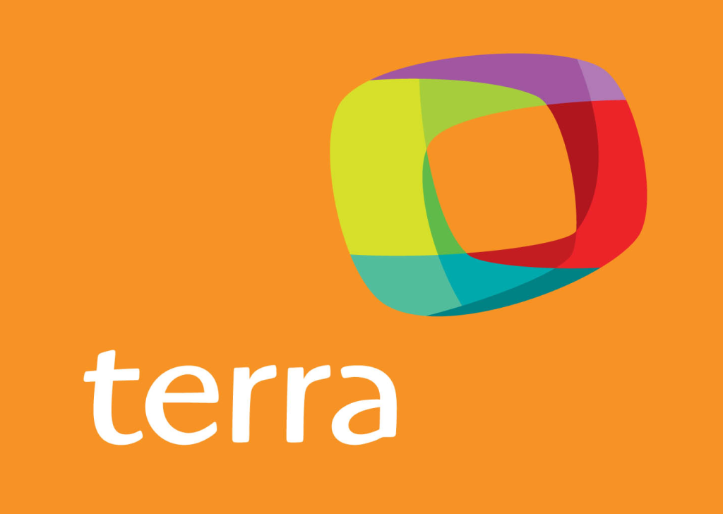 Terra logo orange bg