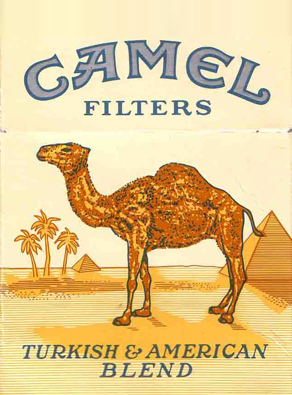 Camel cigarette logo on package
